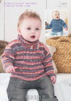 Sirdar Snuggly Baby Crofter DK - 1484 Jumpers Knitting Pattern